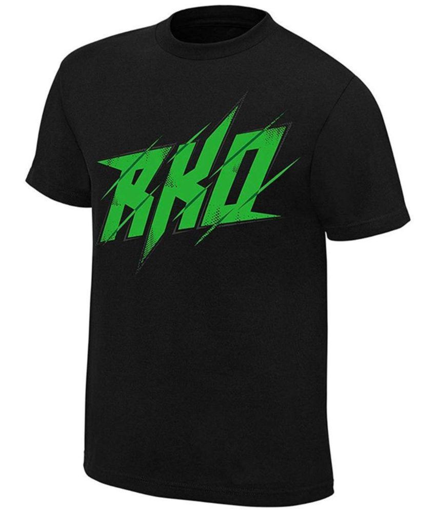 ALIZON Black Half Sleeve T-Shirt Pack of 1