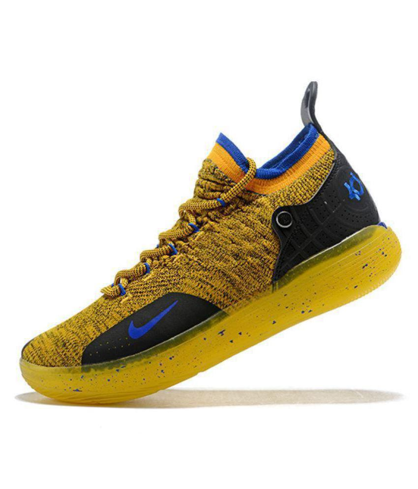 "watch f3b4f 4dcac ... Nike Zoom KD 11 ""Warriors"" LTD 2018 Yellow Basketball Shoes ..."