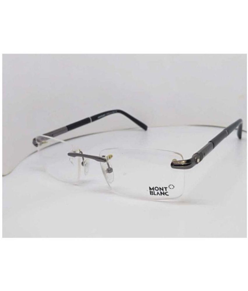 b2077f78337 R.S.INC Rectangle Spectacle Frame MB RimLess-Frame-Eye-Glass-Black-55-16-140  - Buy R.S.INC Rectangle Spectacle Frame MB ...