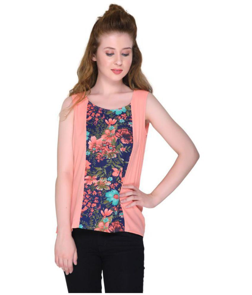 ORIZIA Viscose Regular Tops - Pink