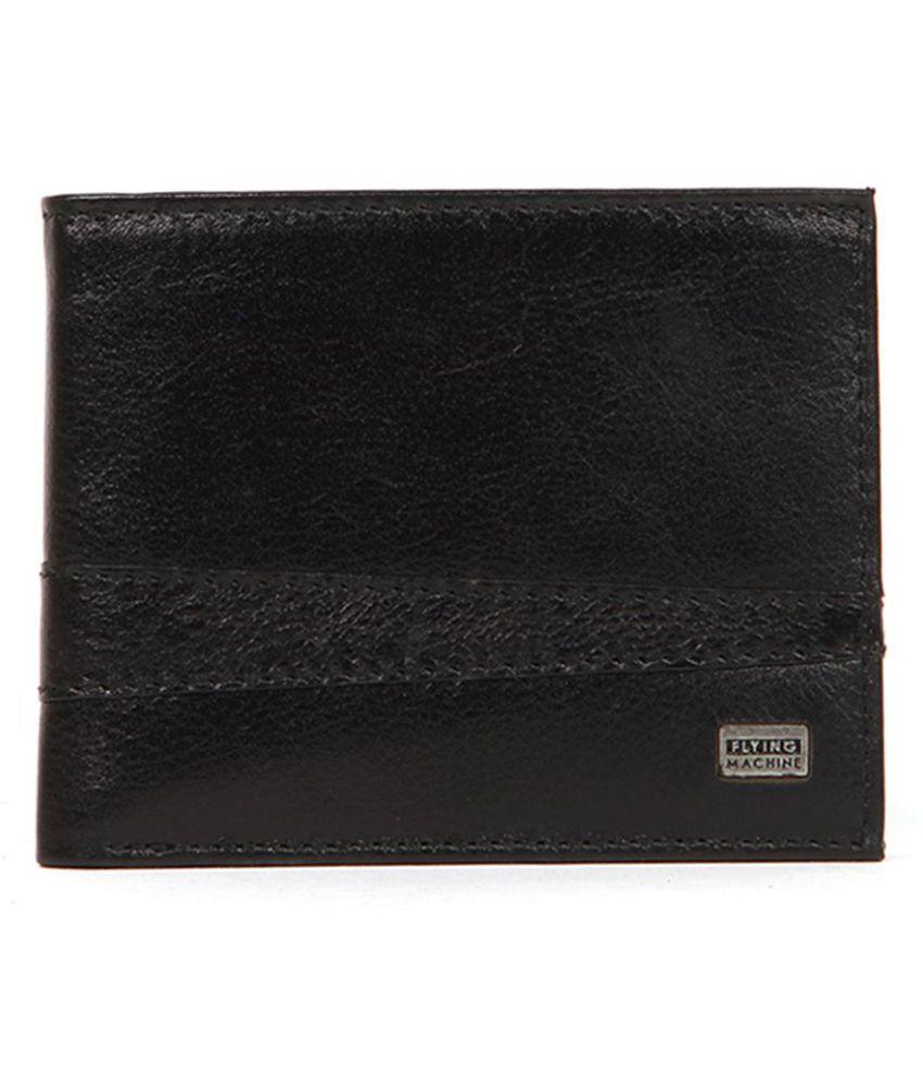 Flying Machine Leather Black Casual Regular Wallet