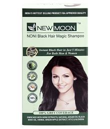 New Moon Noni Herbal Magic Shampoo Permanent Hair Color Black 15 ml Pack of 20