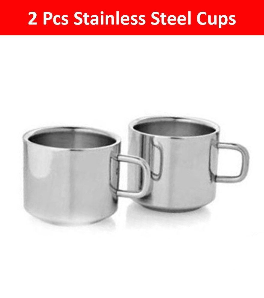 089ad405f26 KC Sober Steel Tea Cup 2 Pcs: Buy Online at Best Price in India - Snapdeal
