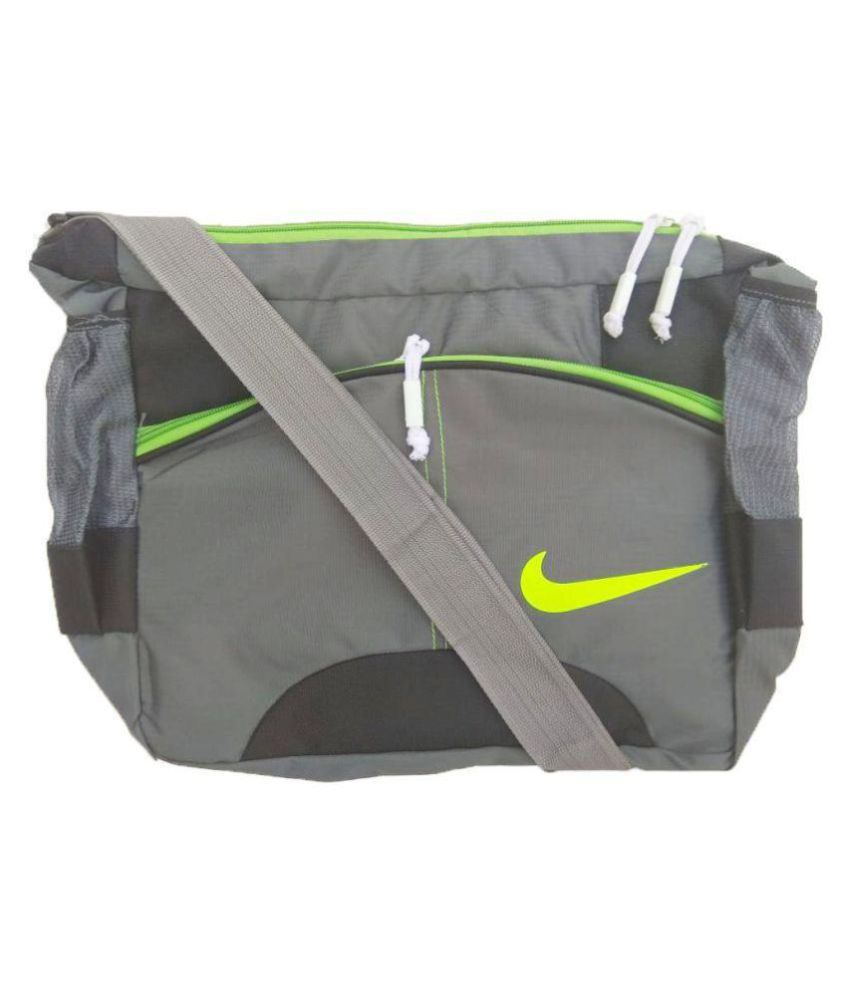 Nike Latest Stylish College Office Tution Purpose Grey Polyester Casual Messenger Bag