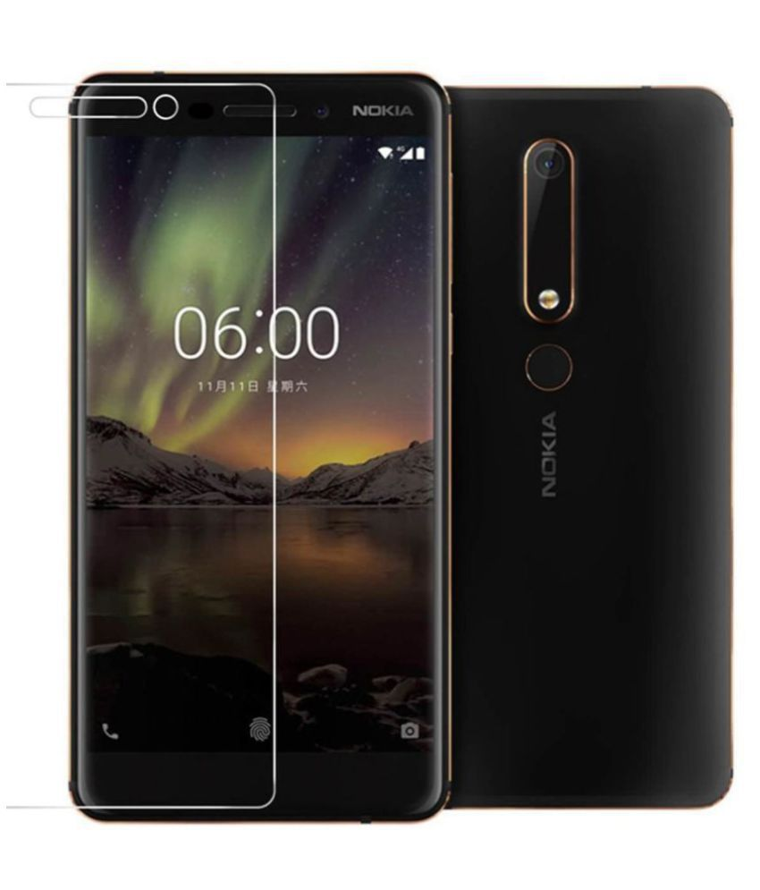 Nokia 6.1 Tempered Glass Screen Guard By Furious3D Scratch Resistant,