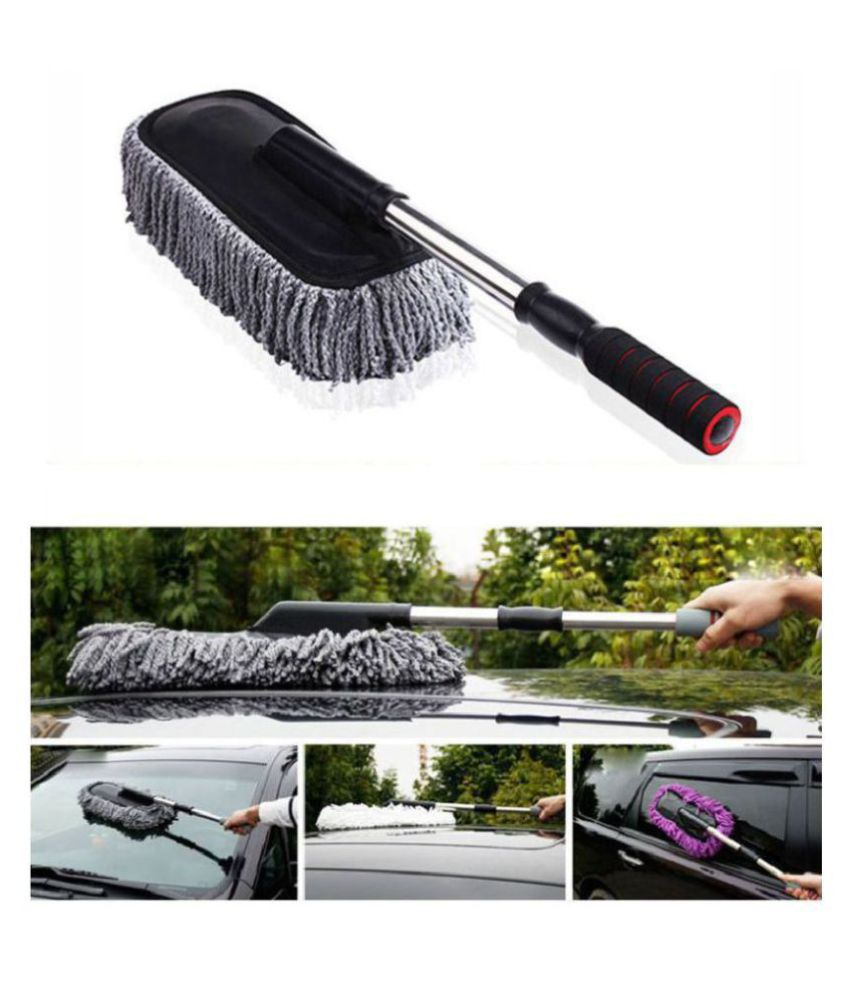 Car Wash Cleaning Brush Duster Dust Wax Mop Microfiber Dusting Tool