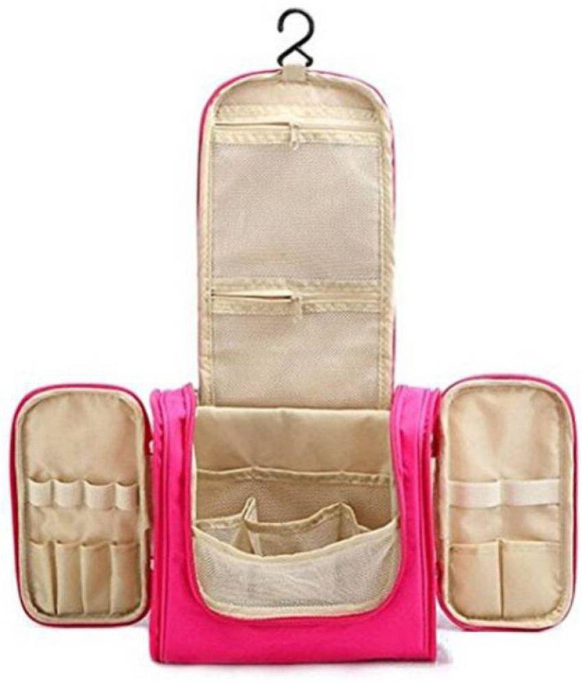 Kanha Pink Hanging Toiletry Bag Makeup Organizer