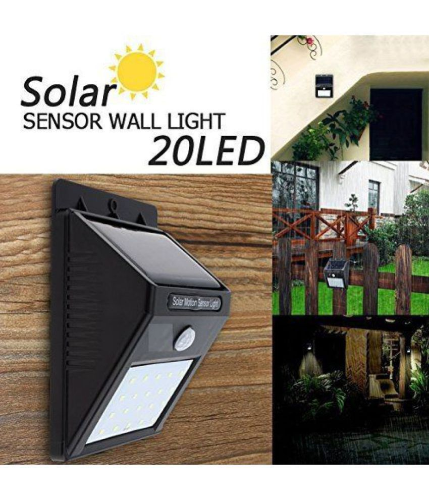 Richi Rich 4W Solar Outdoor Wall Light - Pack of 1