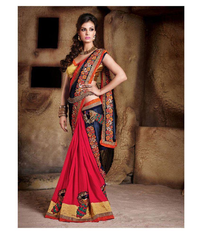 d8ff16b44e7 Zofey Bollywood Designer Sarees Red and Brown Georgette Saree - Buy Zofey  Bollywood Designer Sarees Red and Brown Georgette Saree Online at Low Price  ...