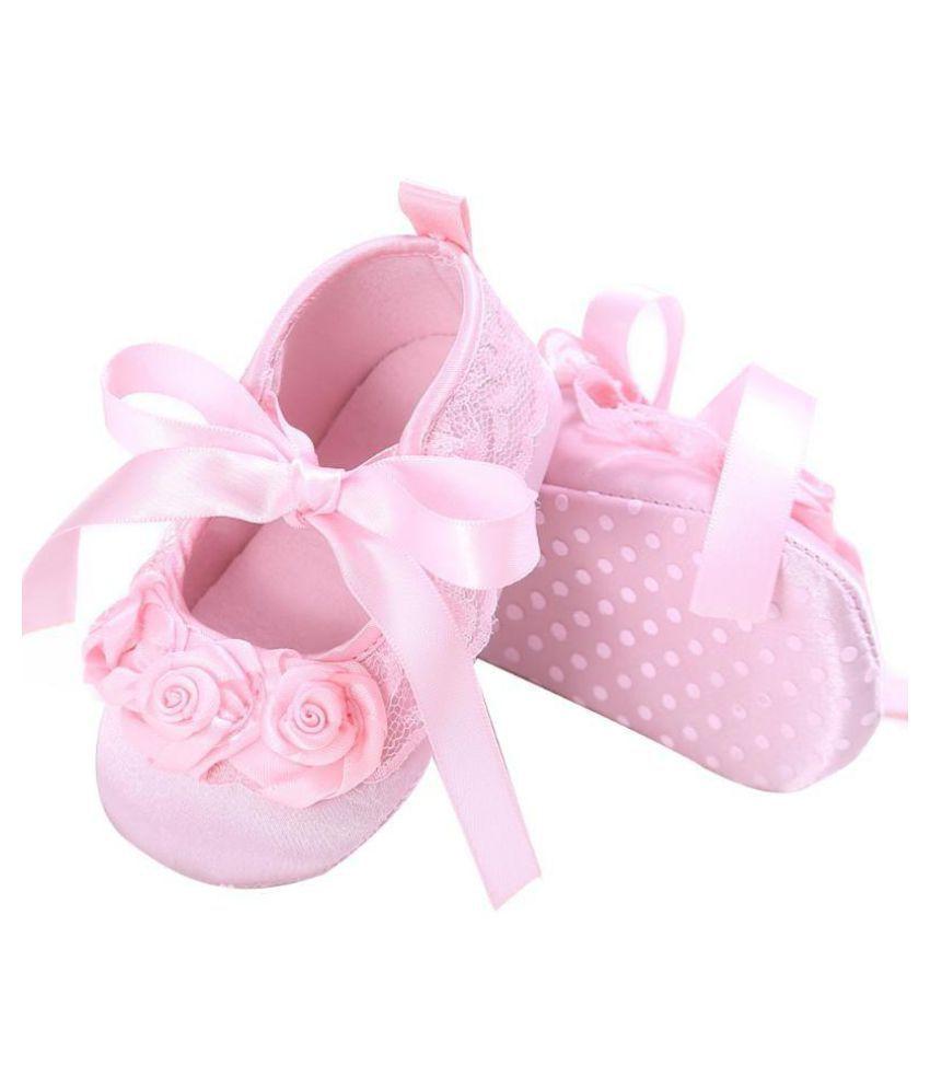 Baby Girl Lace Bowknot Prewalker