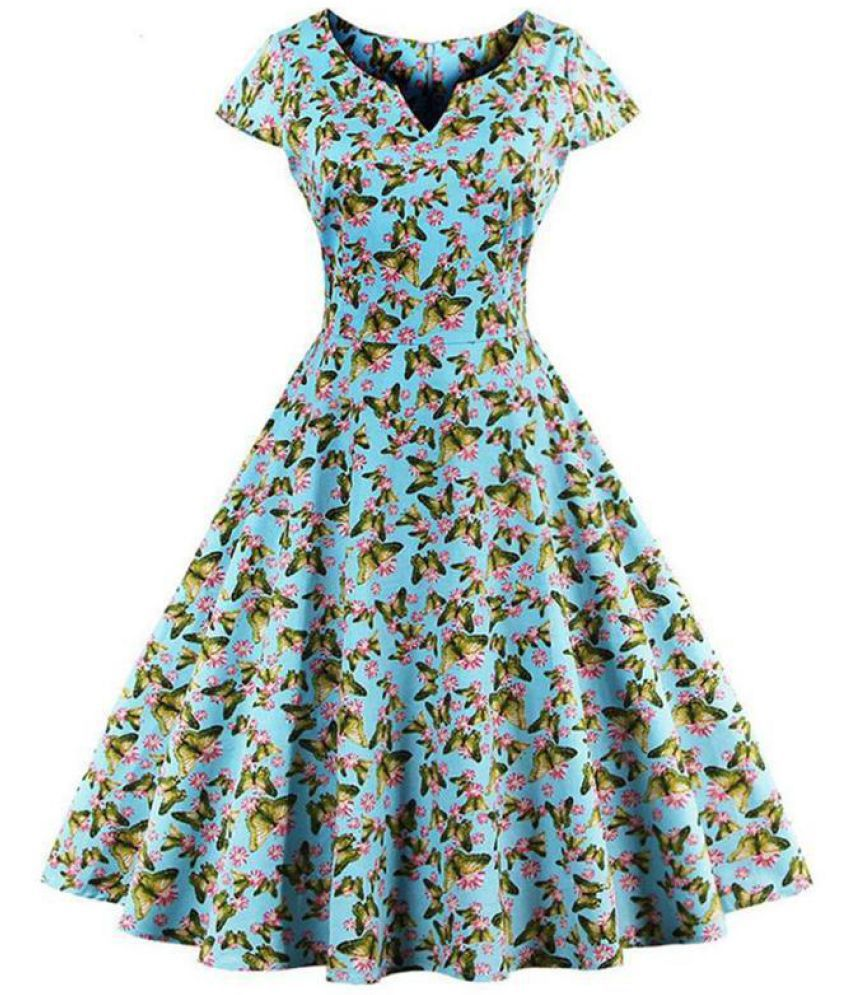 Generic Chiffon Blue Asymmetric dress