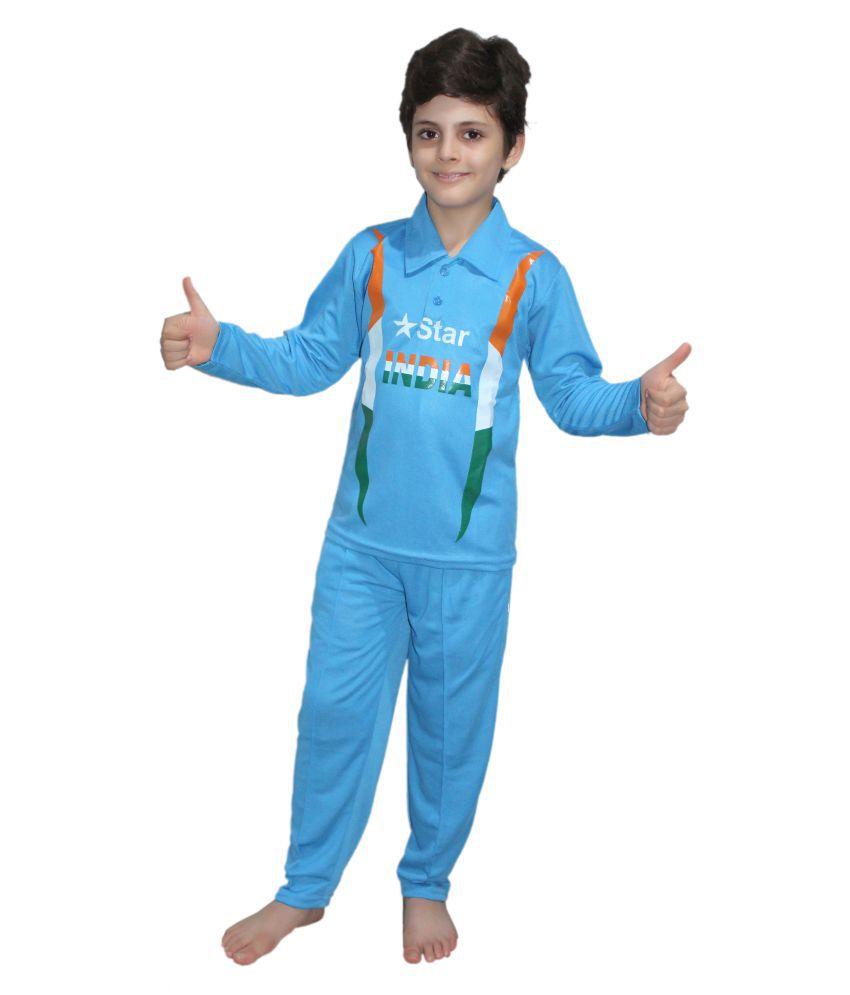 5d1ce1680 Kaku Fancy Dresses India Cricket Team fancy dress for kids,National Hero  Costume for Republic ...