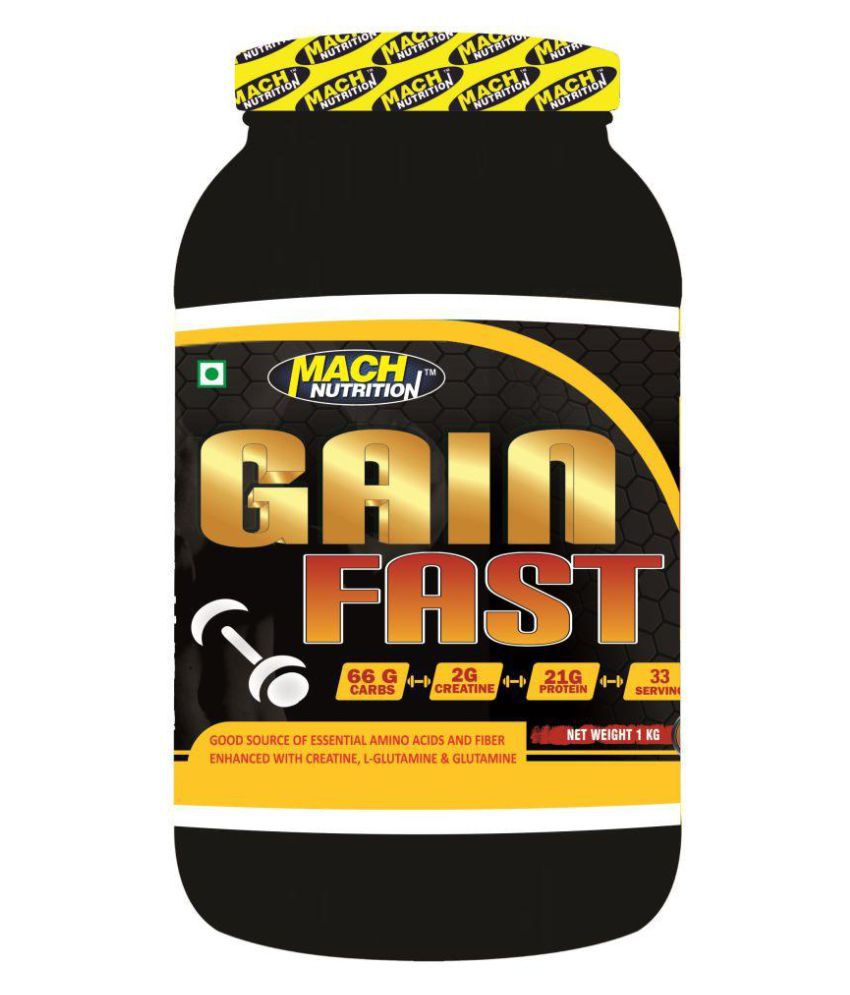 Mach Nutrition Gain Fast 1 kg Weight Gainer Powder