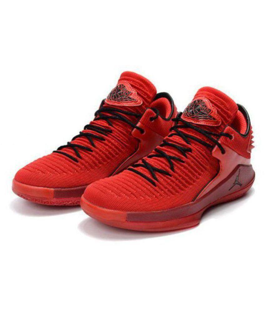 6f12dde3eedf9c Nike Air Jordan 32 Red Basketball Shoes - Buy Nike Air Jordan 32 Red ...
