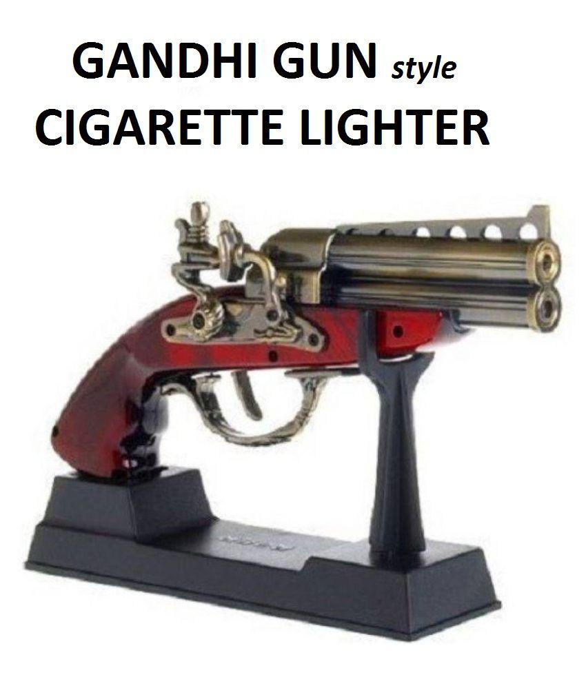 Gandhi Gun Cigarette Lighter with Windproof flame Red