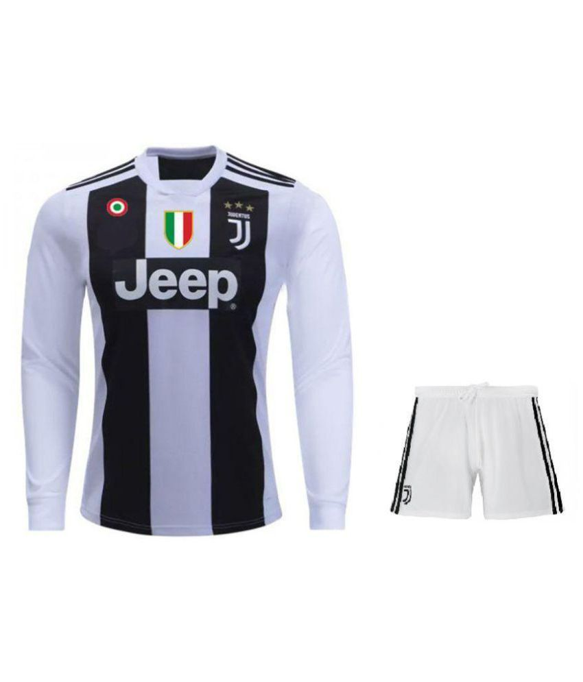 info for 13c43 6b17e Juventus Home Long Sleeves Football Jersey With Shorts 2018/2019