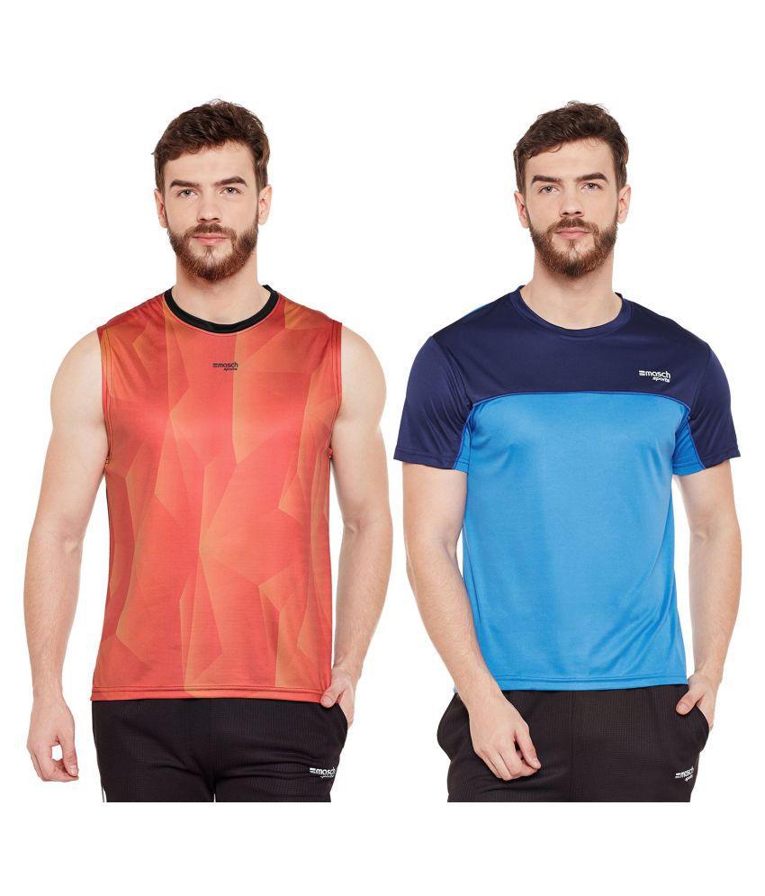 Masch Sports Multi Sleeveless T-Shirt Pack of 2