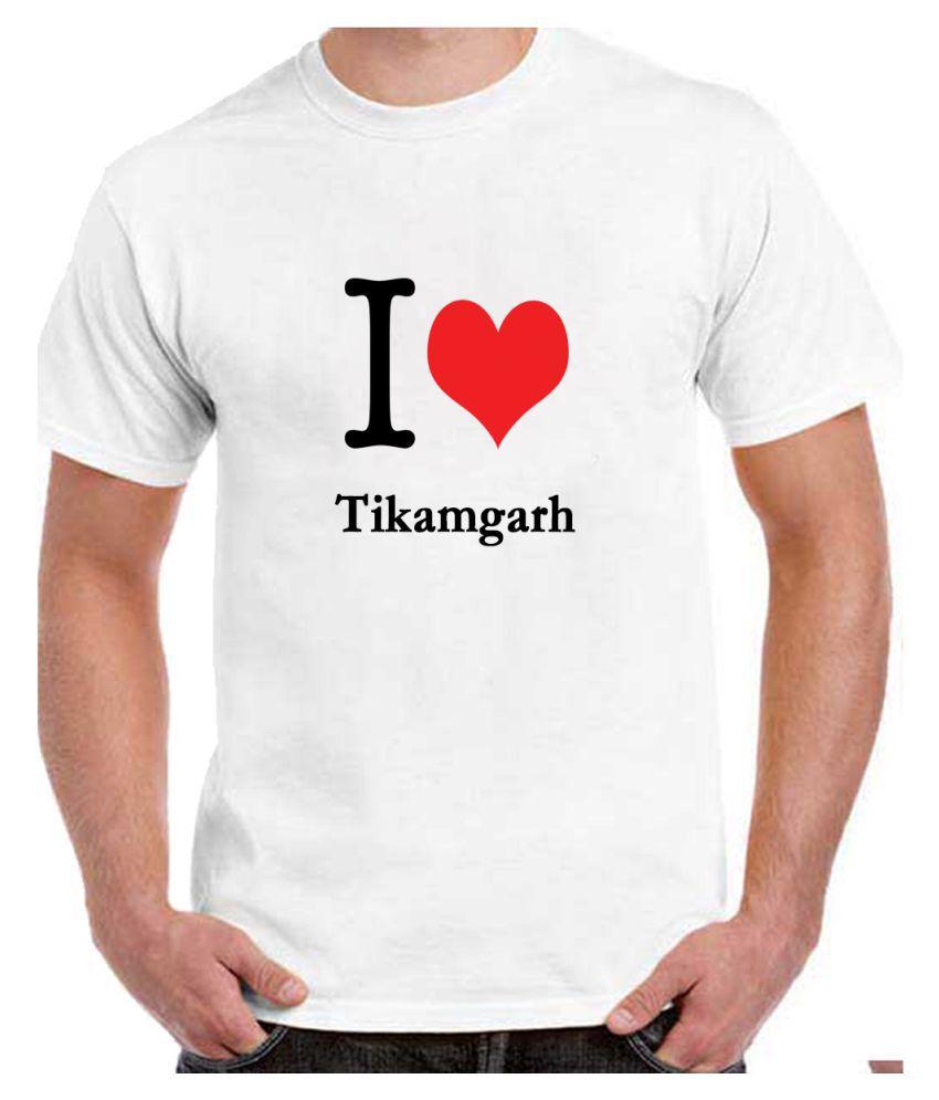 Ritzees Unisex Half Sleeve White Cotton T-Shirt Cotton T-Shirt Tikamgarh City for Men, Women, Kids(White, 38)
