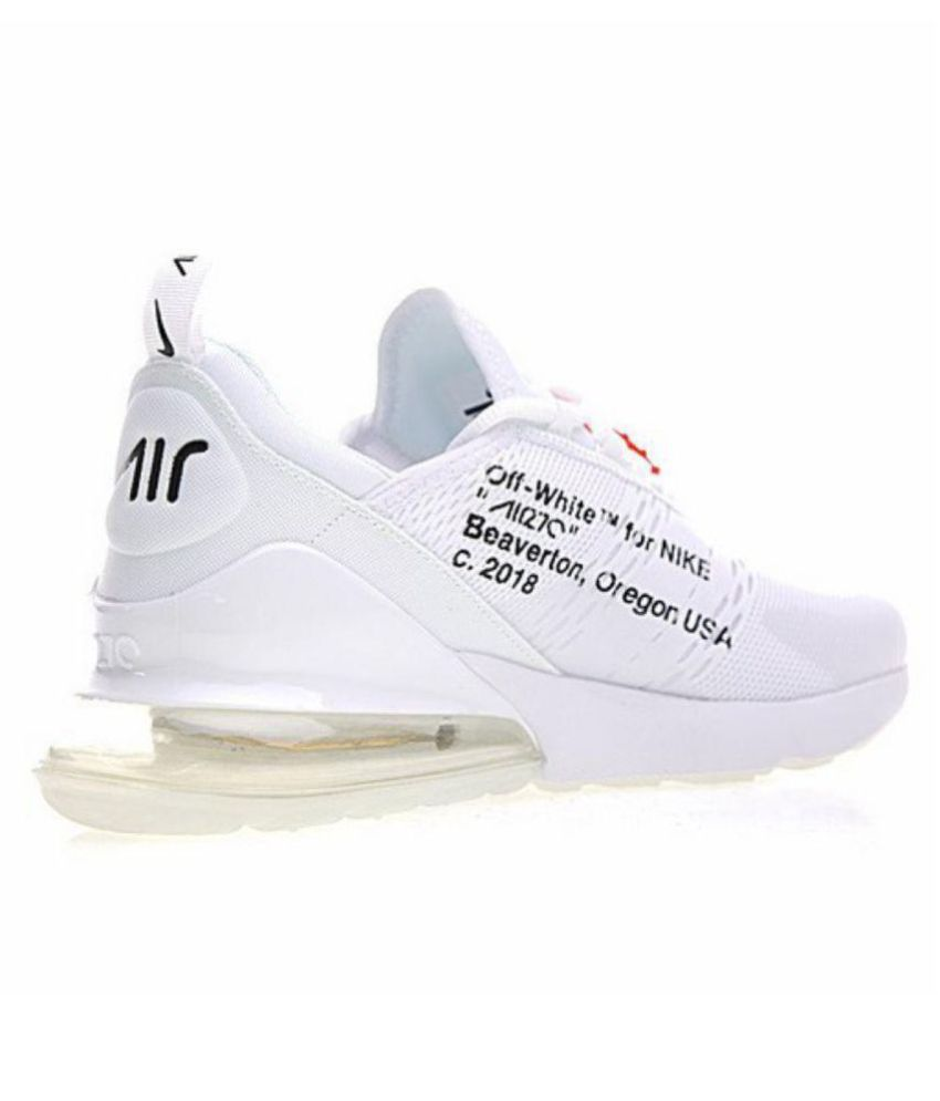 best service e7d73 a8354 NIKE AIR 270 Outdoor White Casual Shoes