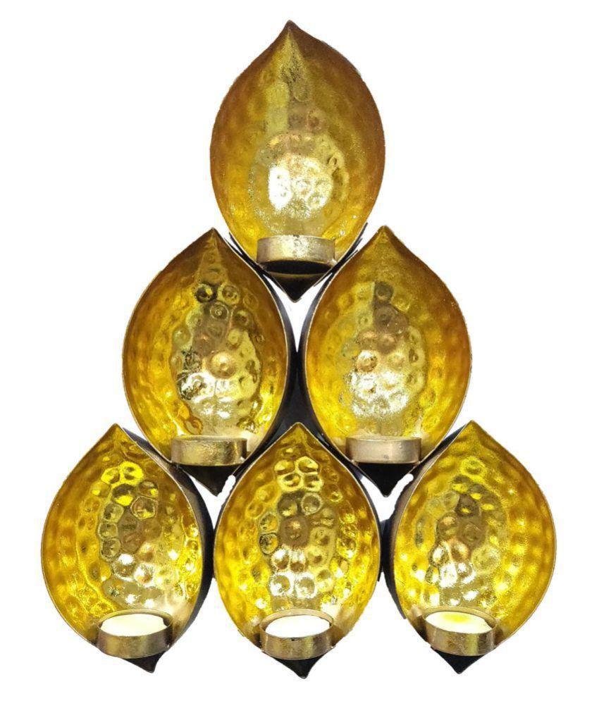 Sarvsiddhi Gold Wax Tea Light - Pack of 1
