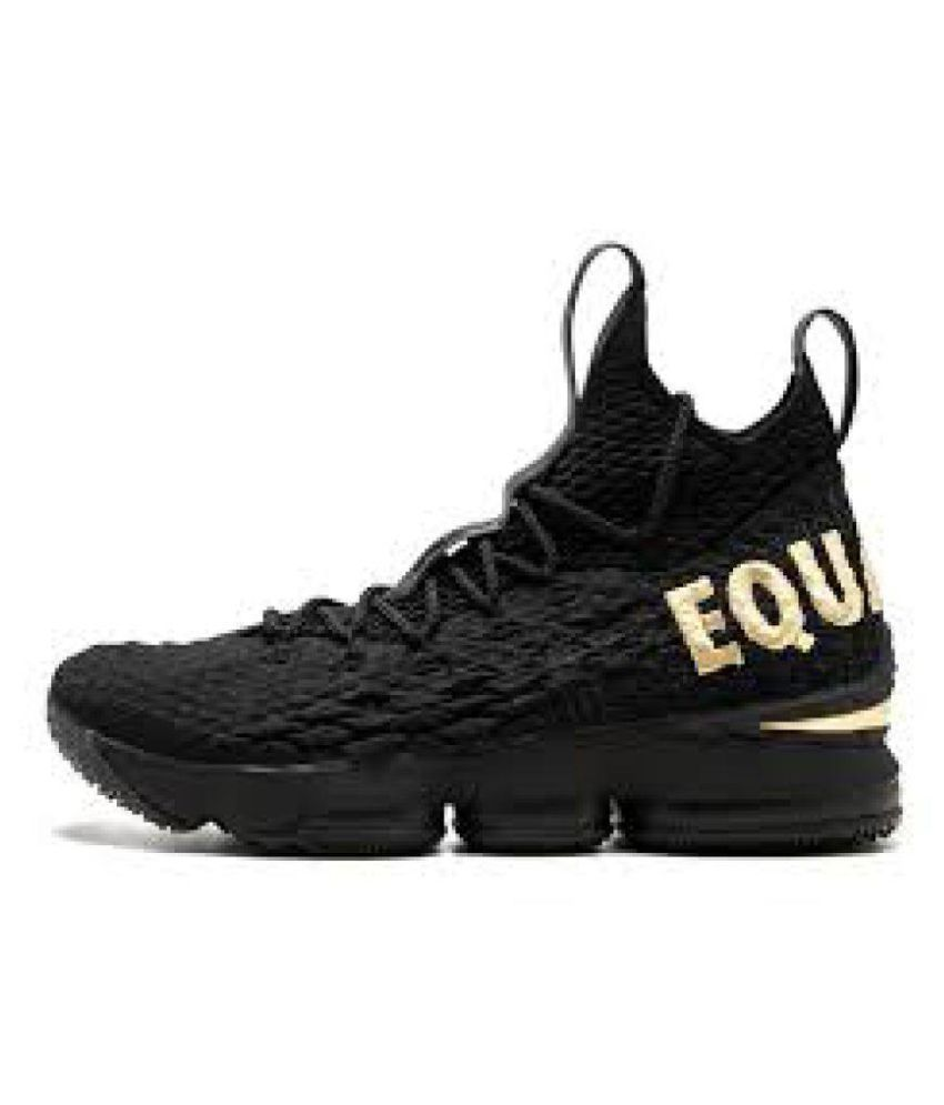 fa0d19a69967 Nike lebron 15 black equality running shoes for mens Running Shoes Black   Buy Online at Best Price on Snapdeal