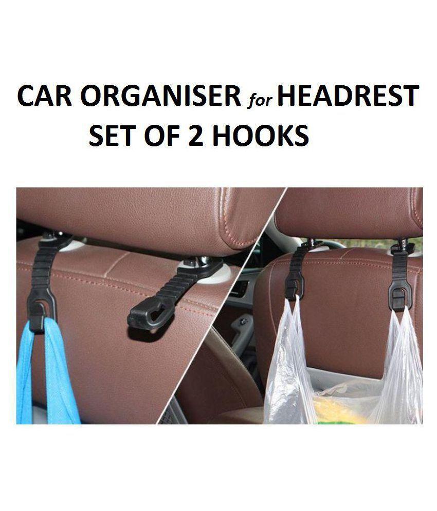 YUTIRITI Hook Type Holder for Headrest Black