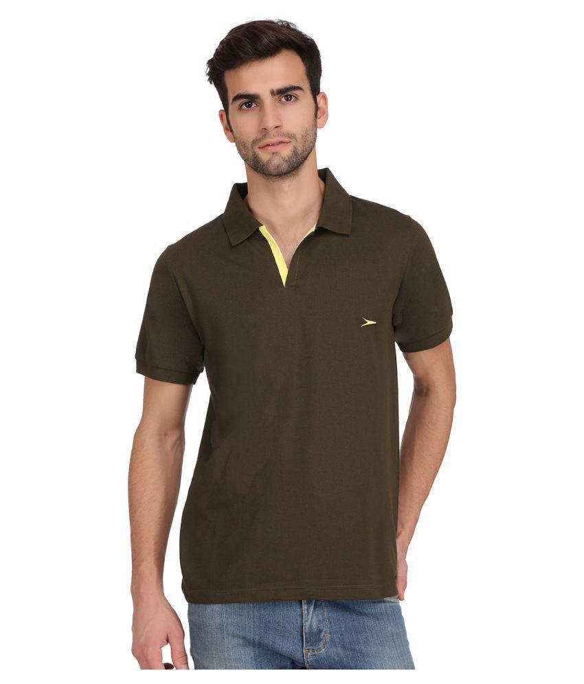 KCJ Zoom Green Half Sleeve T-Shirt Pack of 1