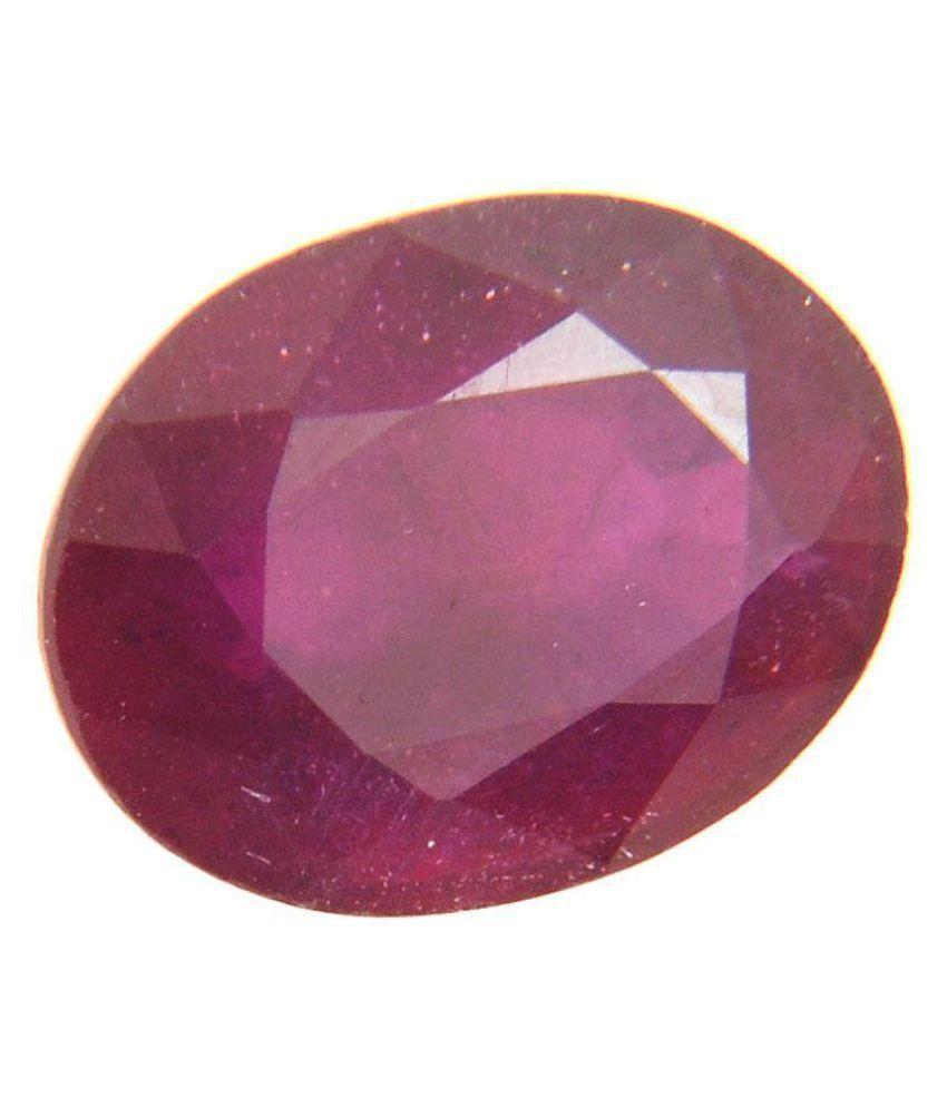 Gems Jewels Online 5.5 -Ratti Self certified Red Ruby Precious Gemstone