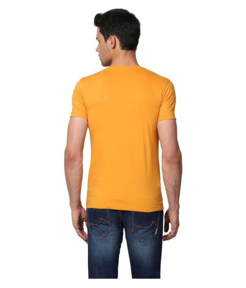 Goat Yellow Half Sleeve T-Shirt