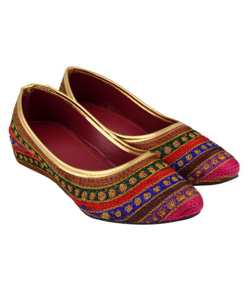 Mochdi Multi Color Ethnic Footwear