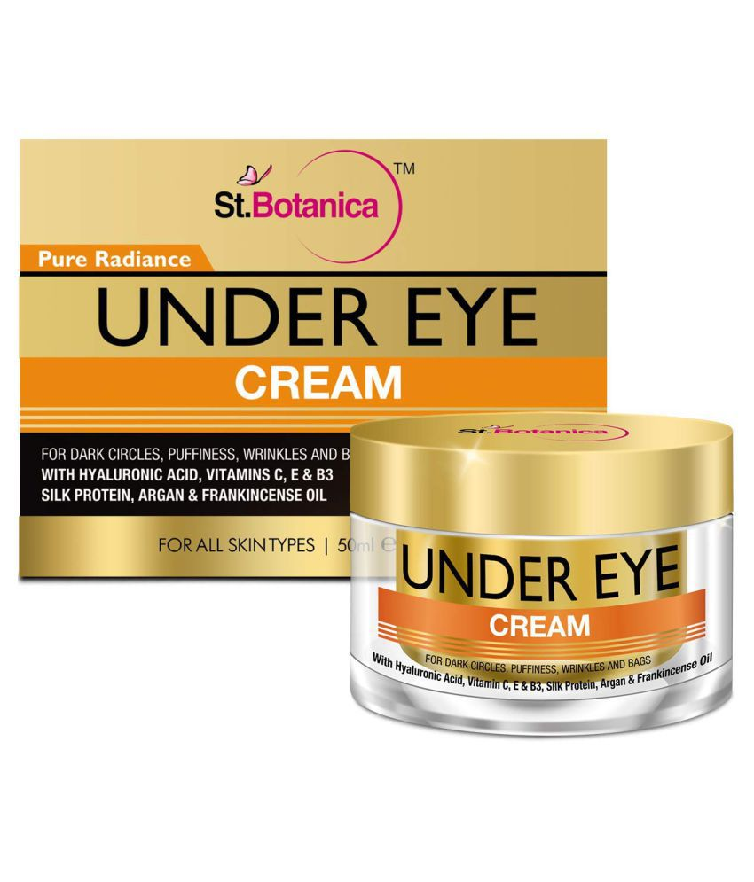 StBotanica Pure Radiance Under Eye Cream- For Dark Circles, Puffiness,  Wrinkles and Bags Eye Mask 50 gm