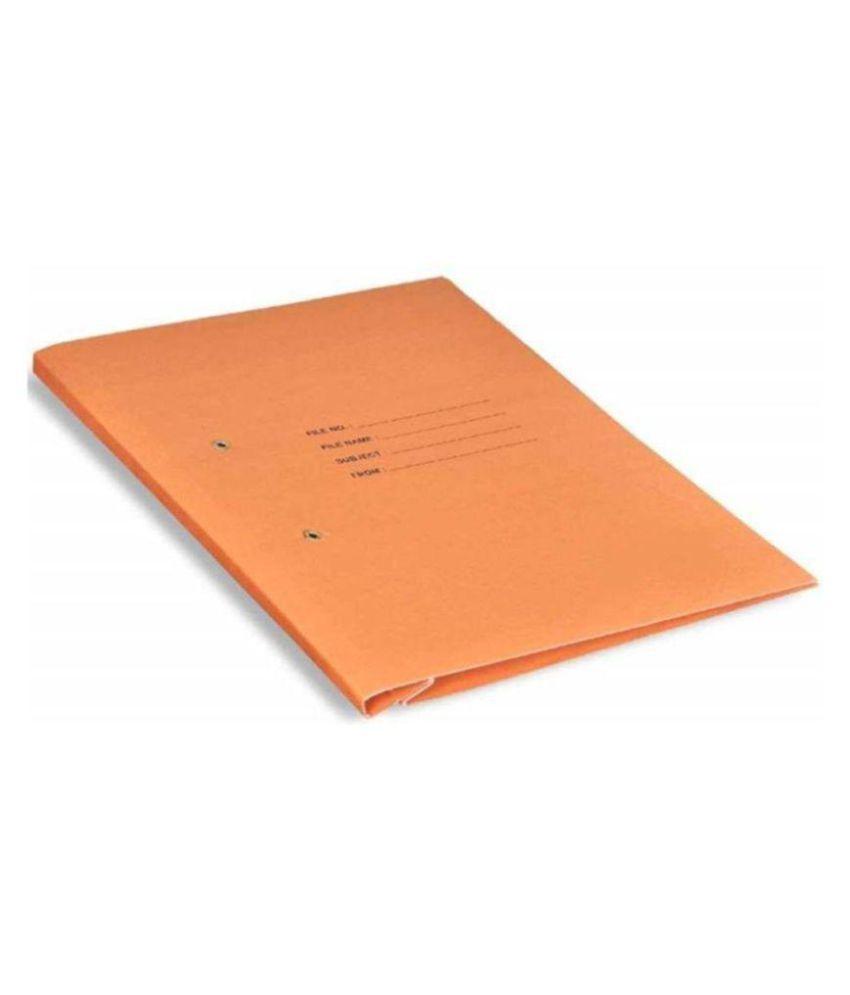 Helloperfect PAPER Office Clip File  (Set Of 4, Orange)