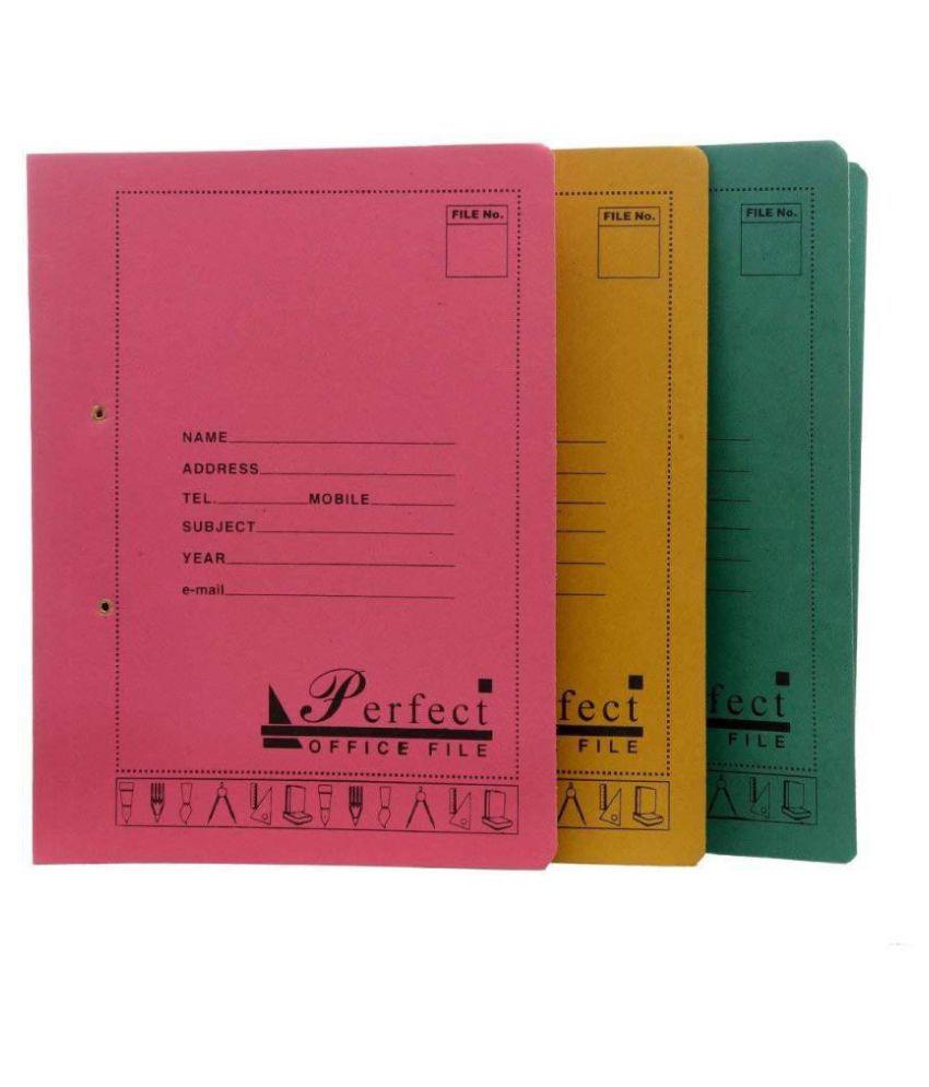 Helloperfect polypropylene File Folder  (Set Of 5, Multicolor)