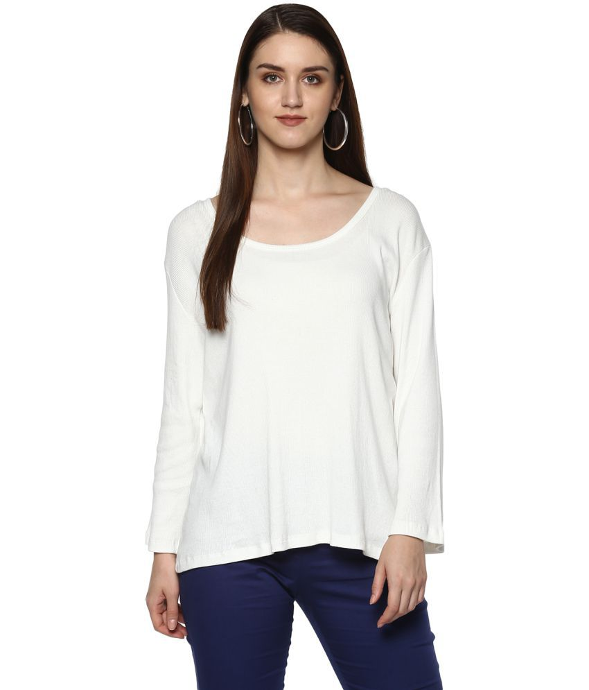 Colors Couture Woollen Regular Tops - White