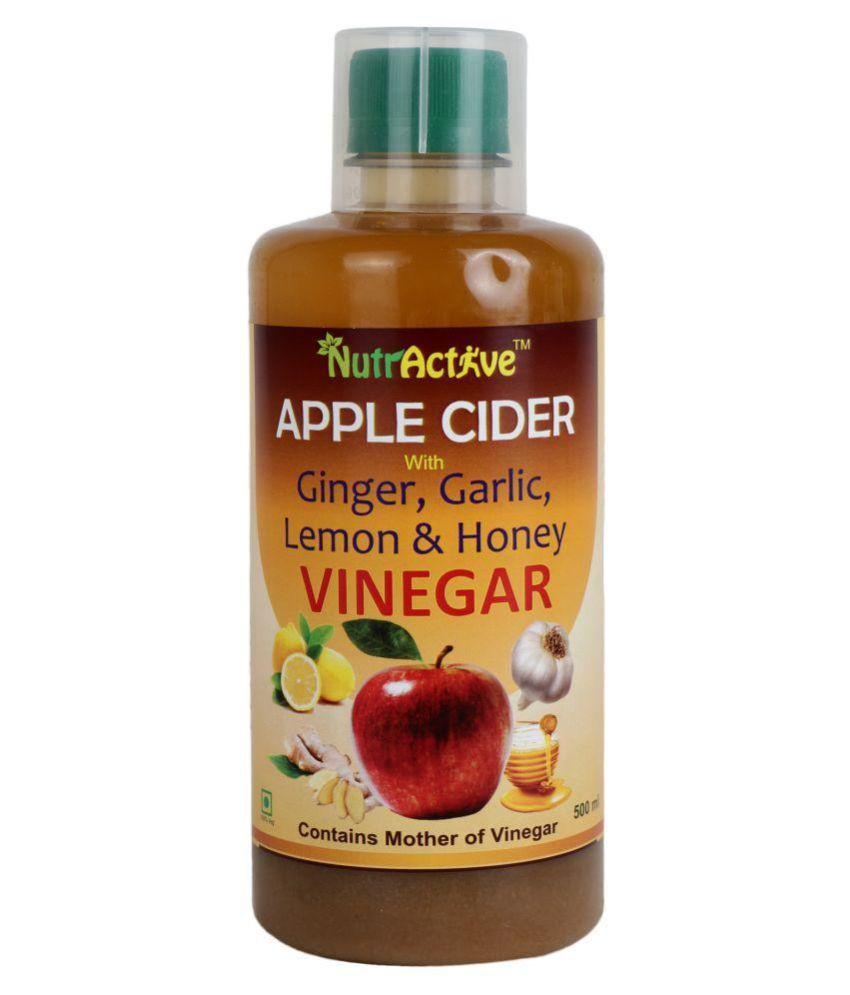 NutrActive Apple, Ginger & Garlic Vinegar Health Drink Liquid 500 ml Apple Jacked