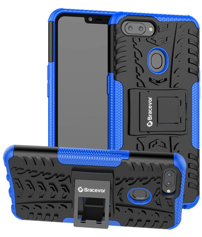 huge selection of 2bf8f 0ded0 Realme 2 Cases with Stands Bracevor - Blue Kickstand Case