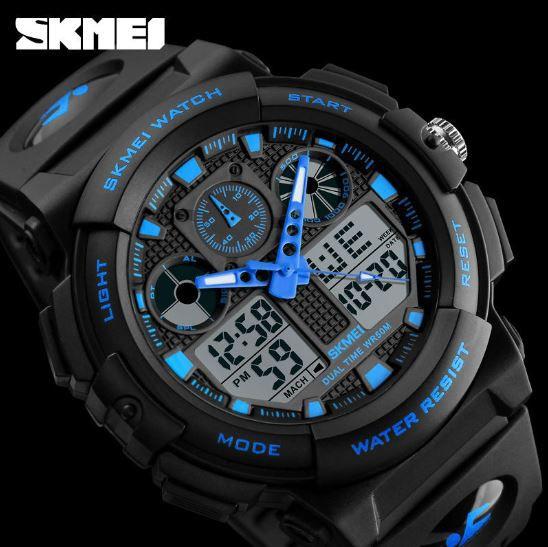 Skmei Sport S Shock Resin Analog Digital Men #039;s Watch
