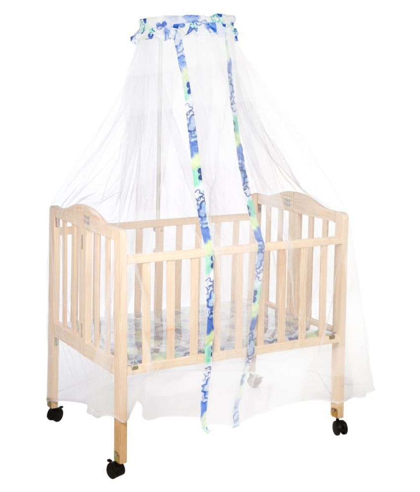Mee Mee Compact Folding Wooden Baby Cot