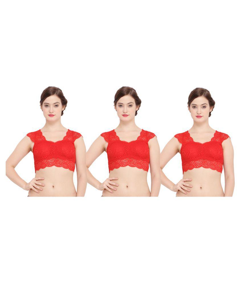 Ziya Cotton Sports Bra - Red