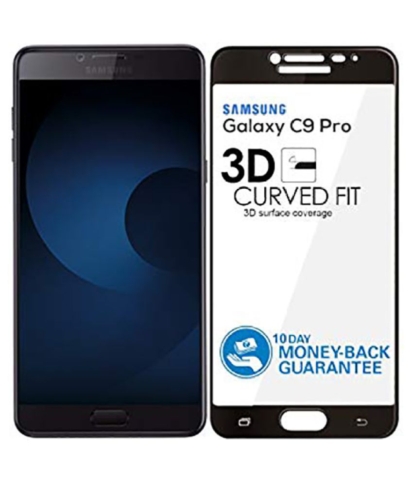 Samsung Galaxy C9 Pro Full Glue Tempered Glass Screen Guard By Tempered Glasses 9H Hardness, Harder and Ever Stronger