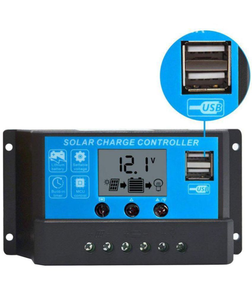 TechTest 10A Solar Charge Controller 12V/24V PWM Solar Charge Controller