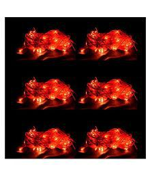 Lexton 3 Meter (Pack of 6) String Lights Red