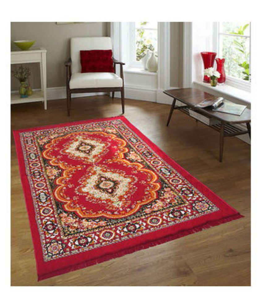 Aazeem Maroon Polyester Carpet(Size- 6.5 X 4.5 Feet) at Snapdeal ₹ 299