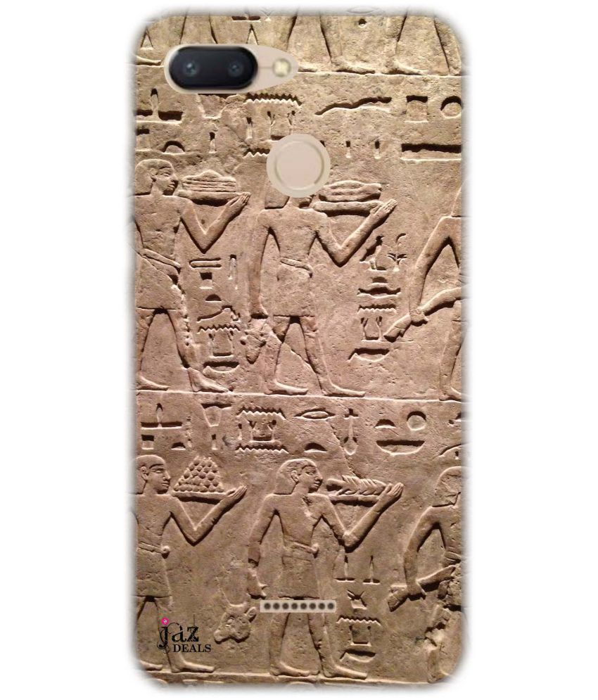 Redmi 6 Printed Cover By Jaz Deals Hieroglyphs Print Hard Cover