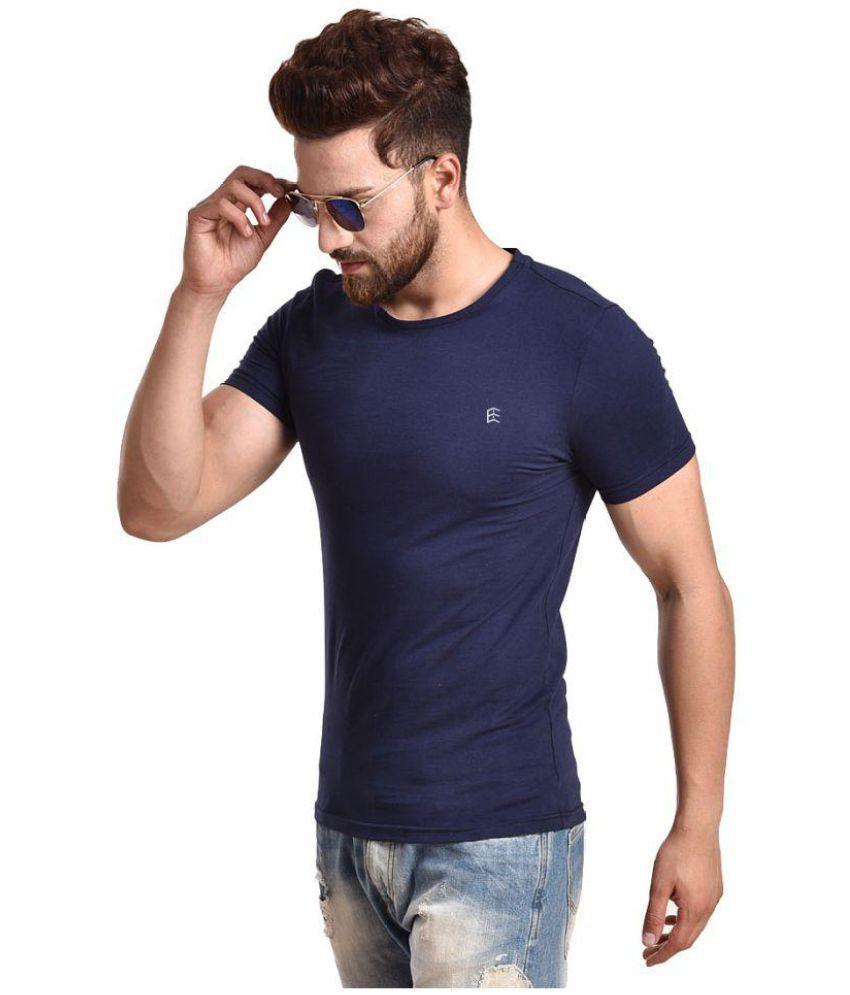 EXAIRE Navy Half Sleeve T-Shirt