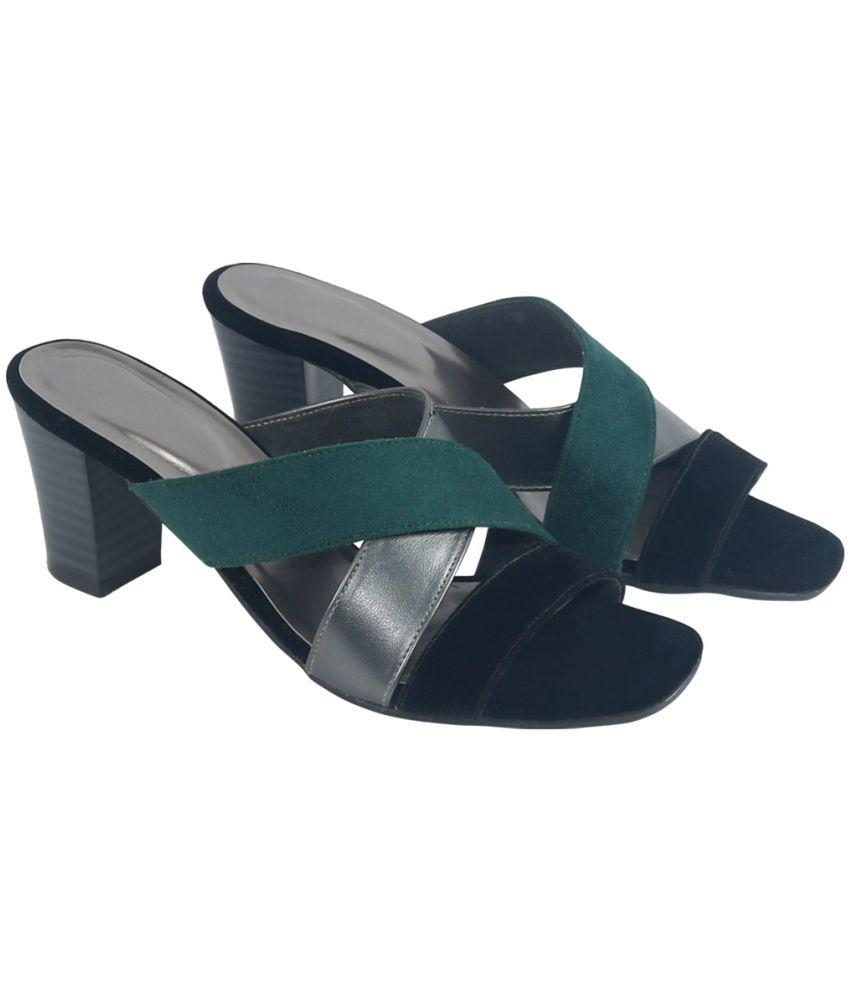 Habit Green Block Heels