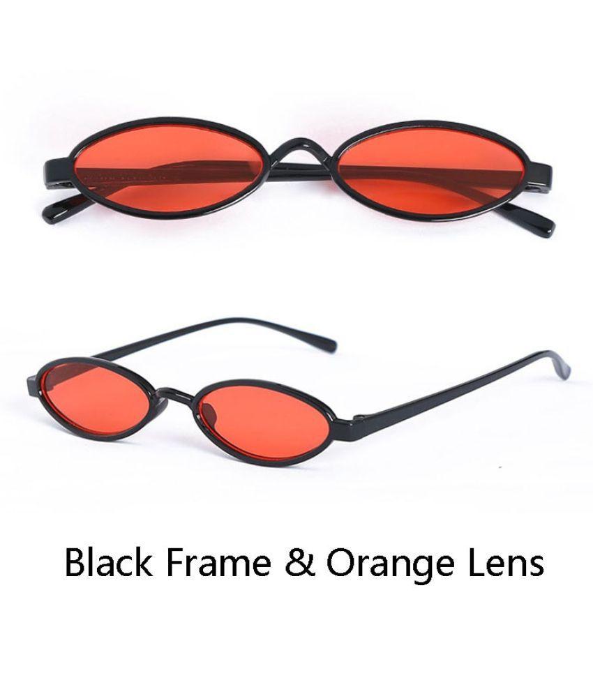 MUMUYOU Orange Oval Sunglasses ( MU809-207 )