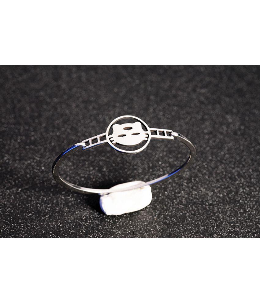Fashion New Women'S Stainless Steel Bracelet Double Peach Heart Love Jewelry