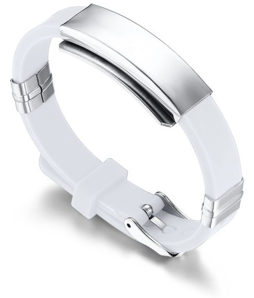 S3 Price Titanium Steel Personality Customized D Ring Engraved Silicon Gel Bracelet Tidal Stainless Steel Jewelry