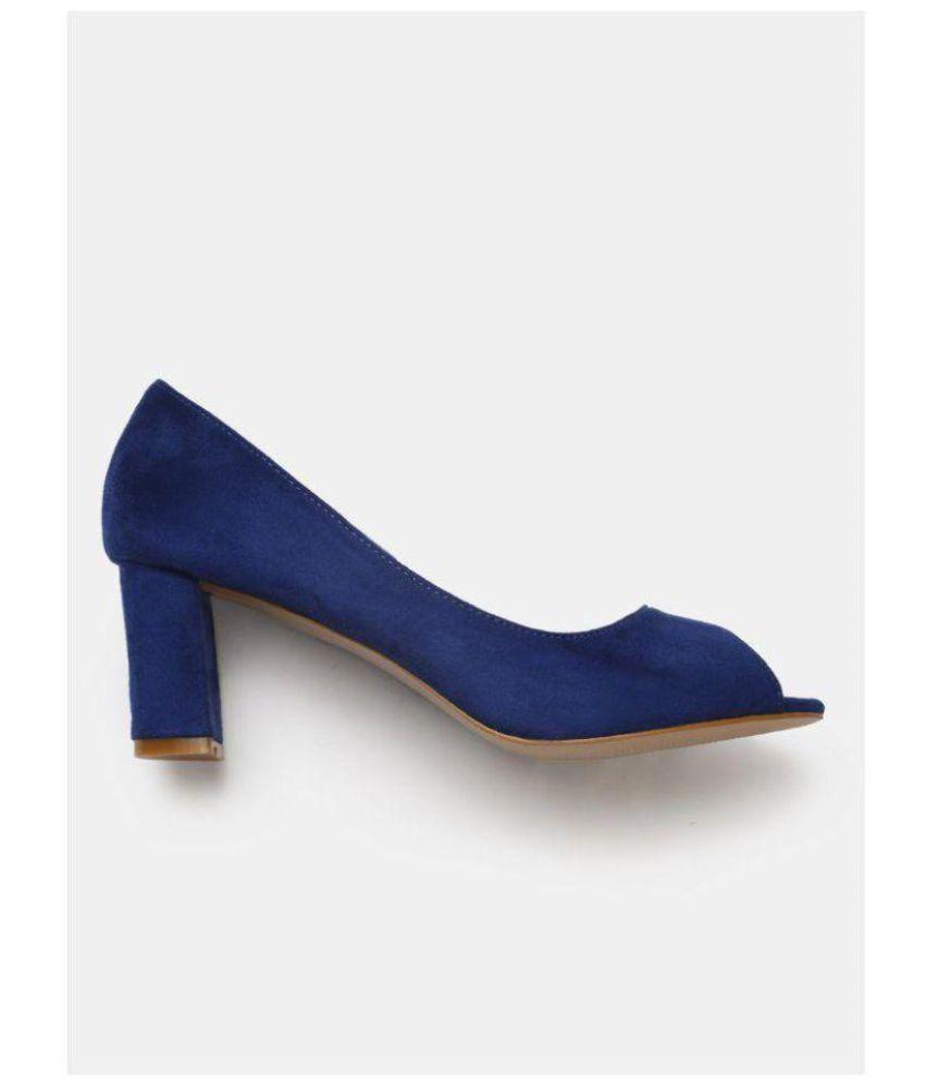 7fc29ba96a2e Dress Berry Blue Block Heels Price in India- Buy Dress Berry Blue Block Heels  Online at Snapdeal